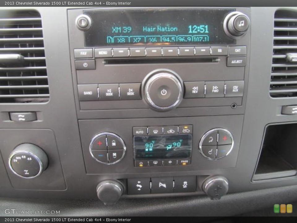 Ebony Interior Controls for the 2013 Chevrolet Silverado 1500 LT Extended Cab 4x4 #78778888