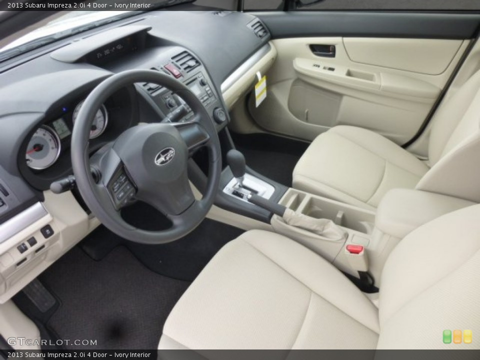 Ivory 2013 Subaru Impreza Interiors