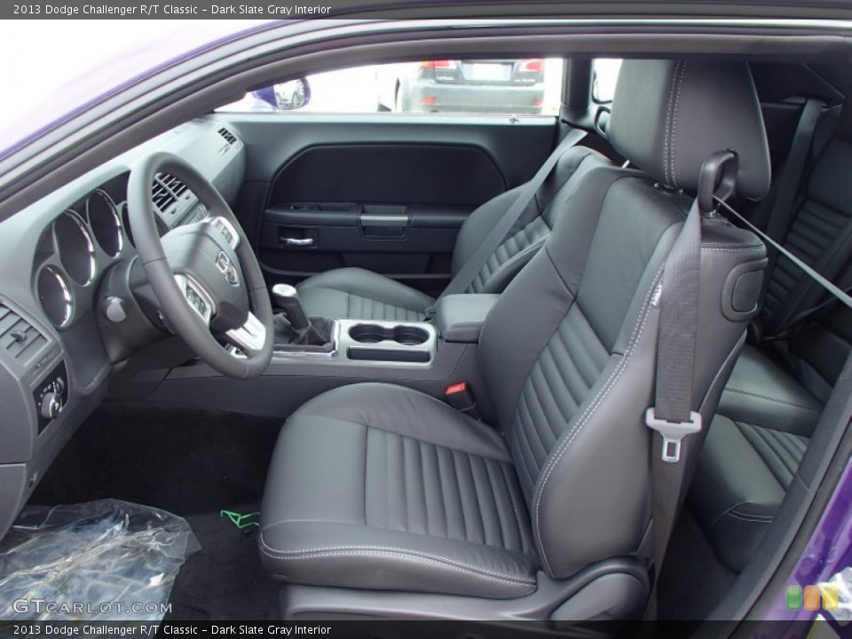 Dark Slate Gray Interior Front Seat for the 2013 Dodge Challenger R/T Classic #78885792