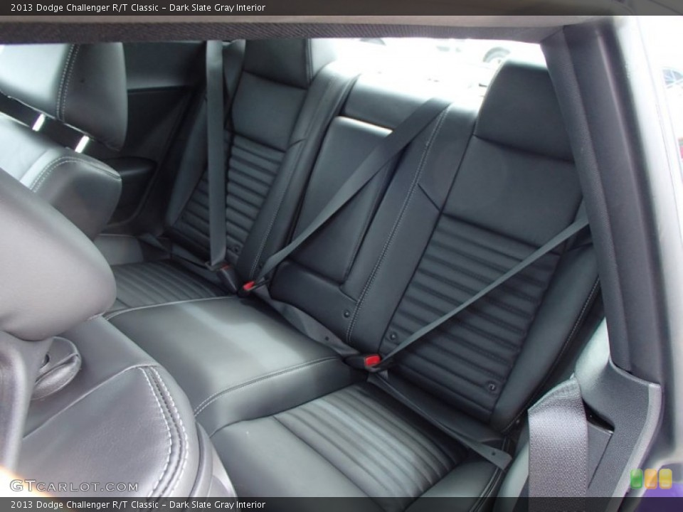 Dark Slate Gray Interior Rear Seat for the 2013 Dodge Challenger R/T Classic #78885831