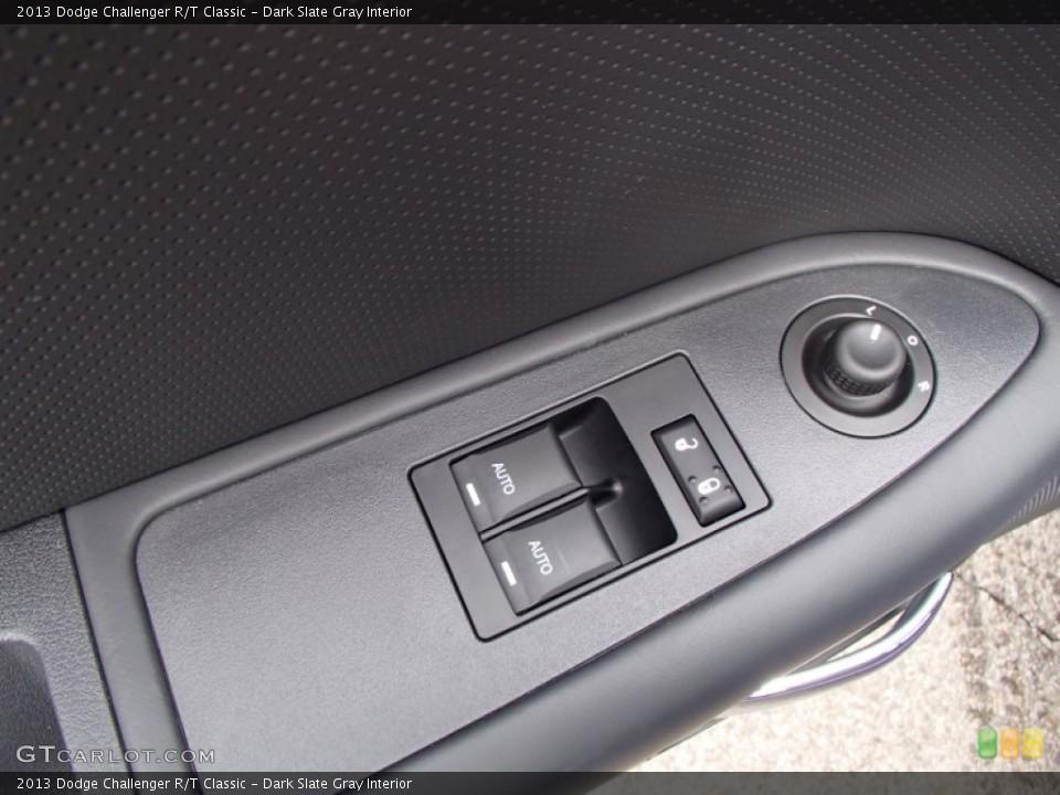Dark Slate Gray Interior Controls for the 2013 Dodge Challenger R/T Classic #78885859