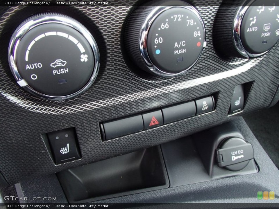 Dark Slate Gray Interior Controls for the 2013 Dodge Challenger R/T Classic #78885912