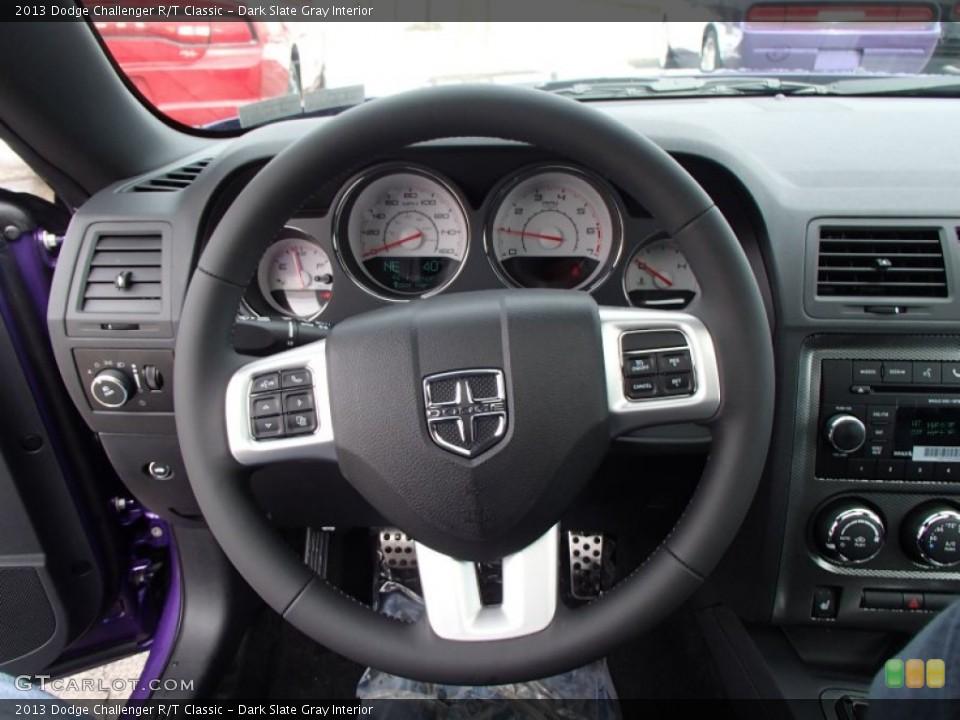 Dark Slate Gray Interior Steering Wheel for the 2013 Dodge Challenger R/T Classic #78885962
