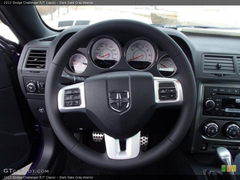 Dark Slate Gray Interior Steering Wheel for the 2013 Dodge Challenger R/T Classic #78887700