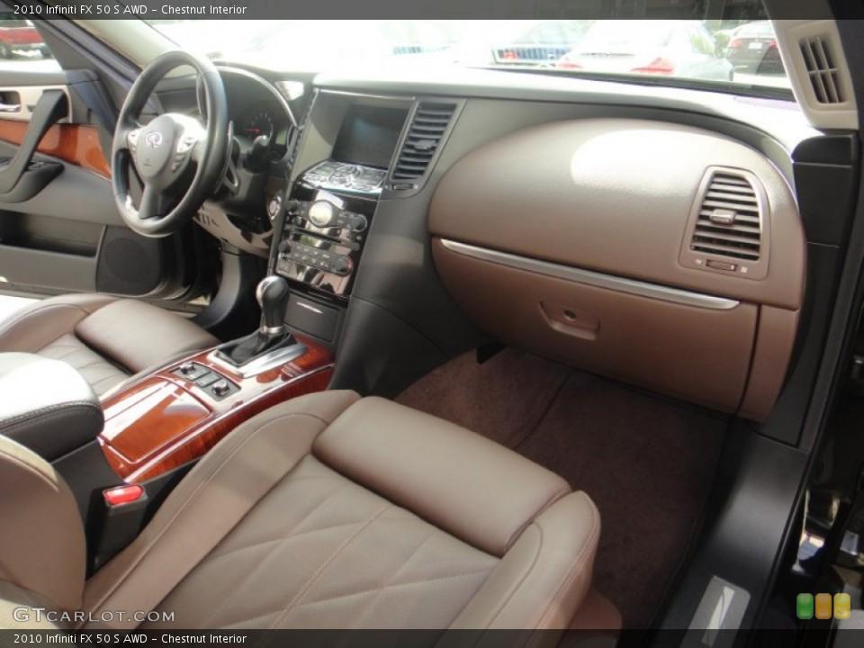 Chestnut Interior Dashboard for the 2010 Infiniti FX 50 S AWD #78891825