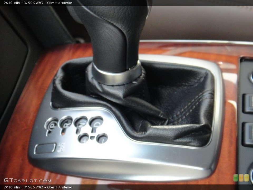 Chestnut Interior Transmission for the 2010 Infiniti FX 50 S AWD #78892046