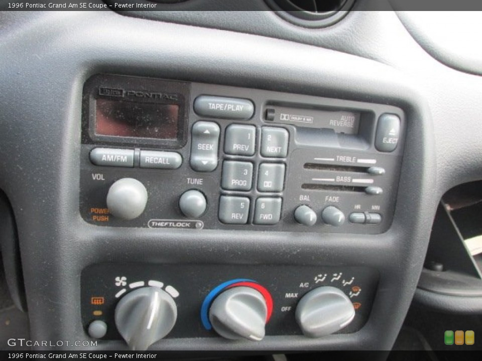 Pewter Interior Controls for the 1996 Pontiac Grand Am SE Coupe #78934479