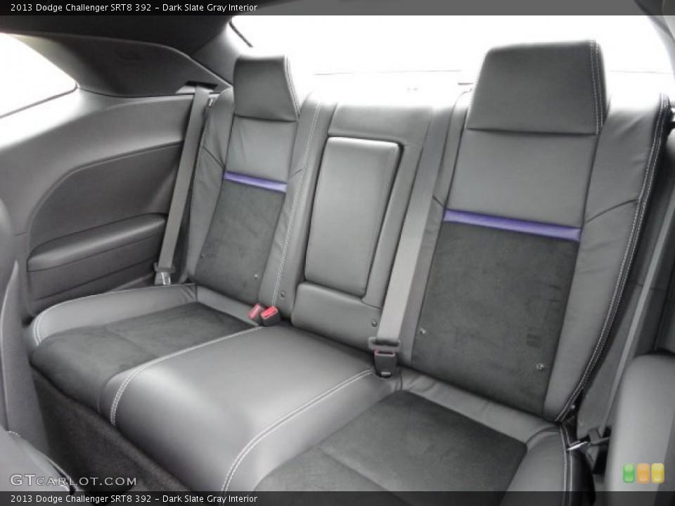 Dark Slate Gray Interior Rear Seat for the 2013 Dodge Challenger SRT8 392 #79044940