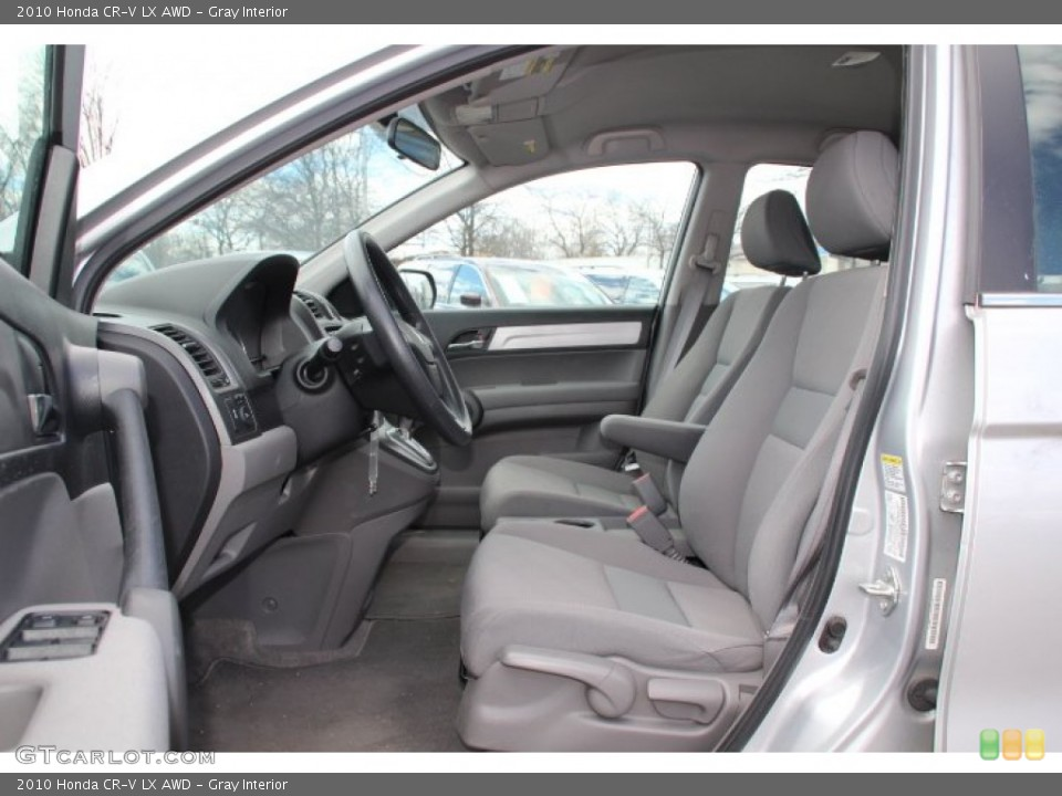 Gray Interior Photo for the 2010 Honda CR-V LX AWD #79061031