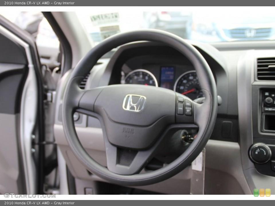 Gray Interior Steering Wheel for the 2010 Honda CR-V LX AWD #79061091