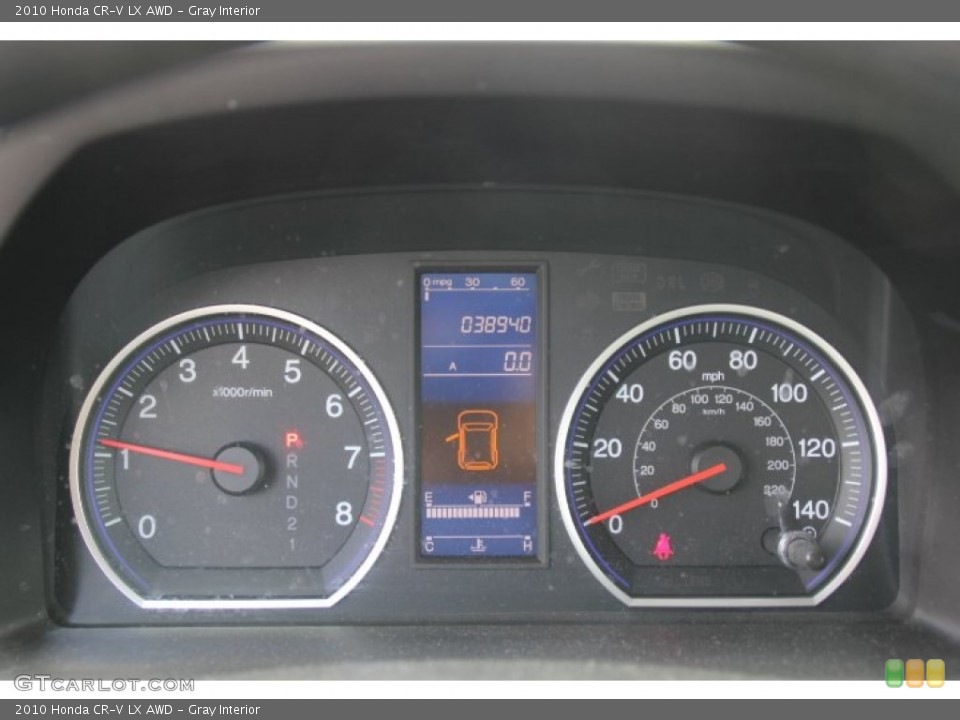 Gray Interior Gauges for the 2010 Honda CR-V LX AWD #79061111