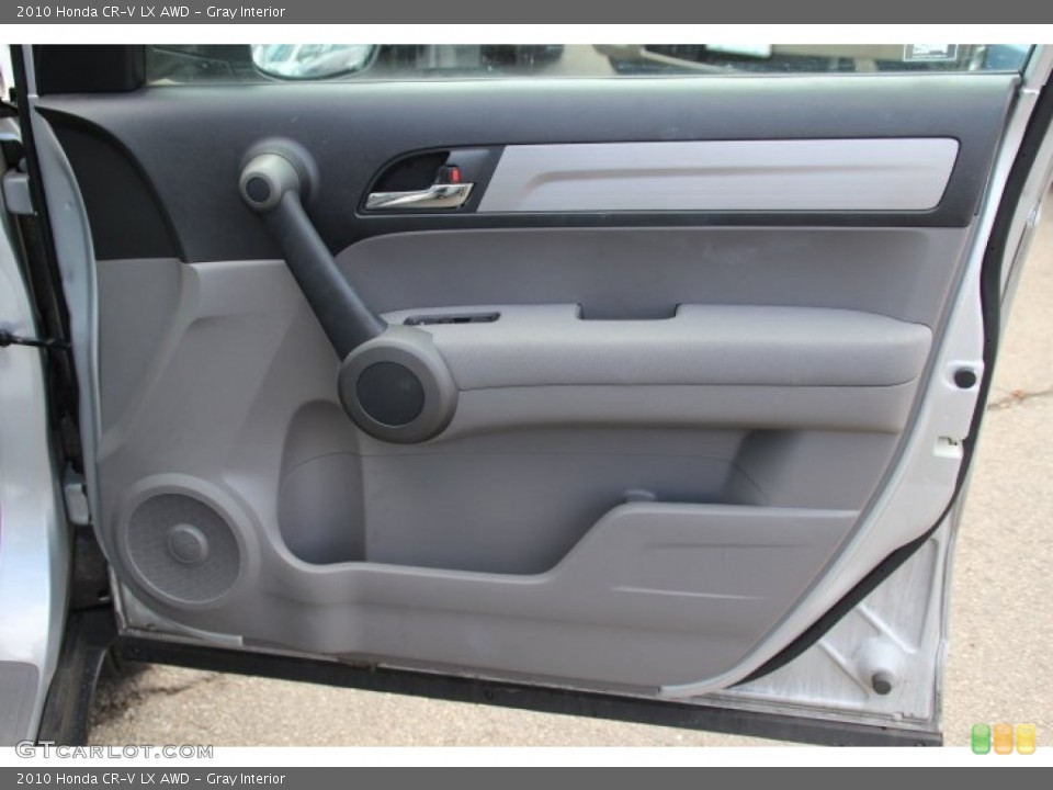 Gray Interior Door Panel for the 2010 Honda CR-V LX AWD #79061179