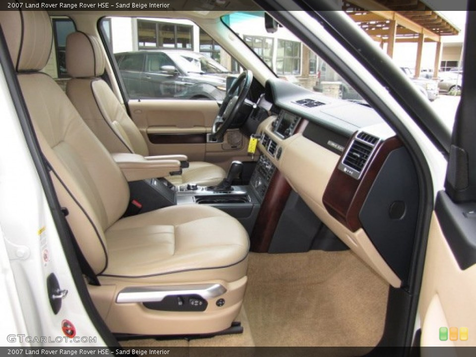 Sand Beige 2007 Land Rover Range Rover Interiors