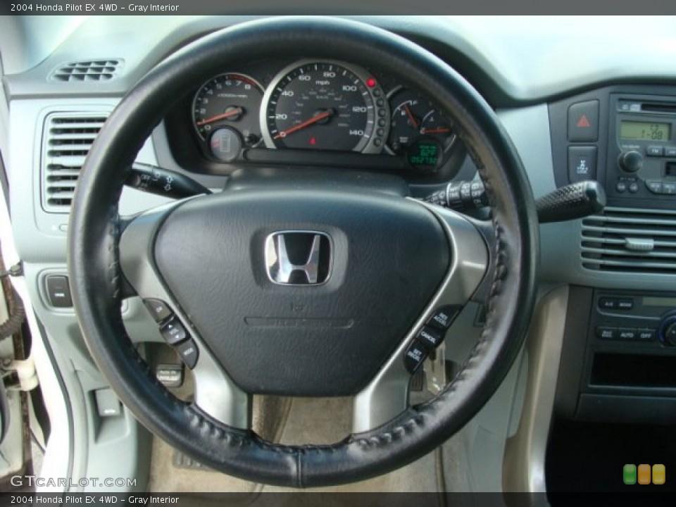 Gray Interior Steering Wheel for the 2004 Honda Pilot EX 4WD #79176425