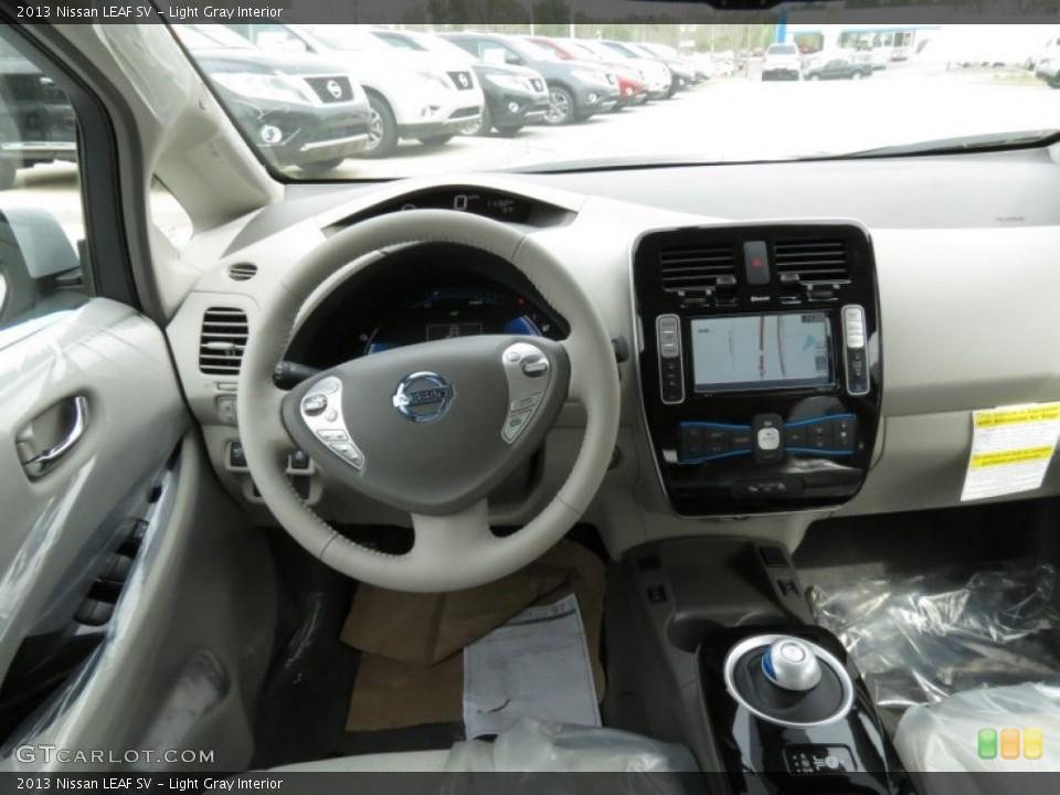 Light Gray 2013 Nissan LEAF Interiors
