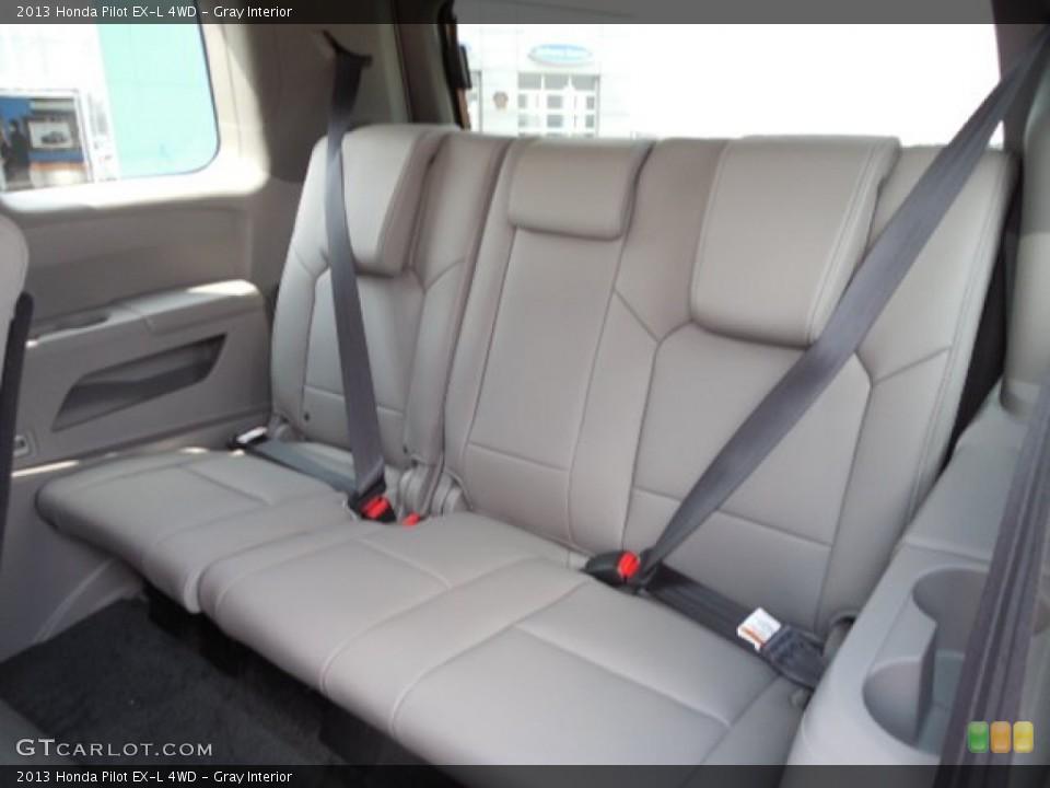 Gray Interior Rear Seat for the 2013 Honda Pilot EX-L 4WD #79378945