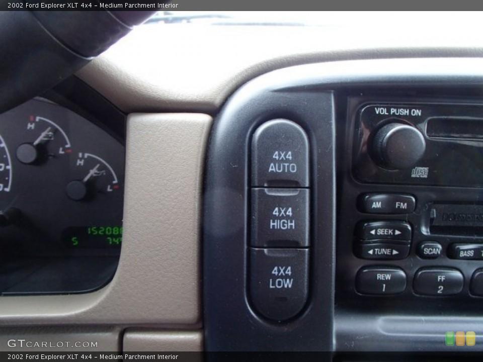 Medium Parchment Interior Controls for the 2002 Ford Explorer XLT 4x4 #79470117