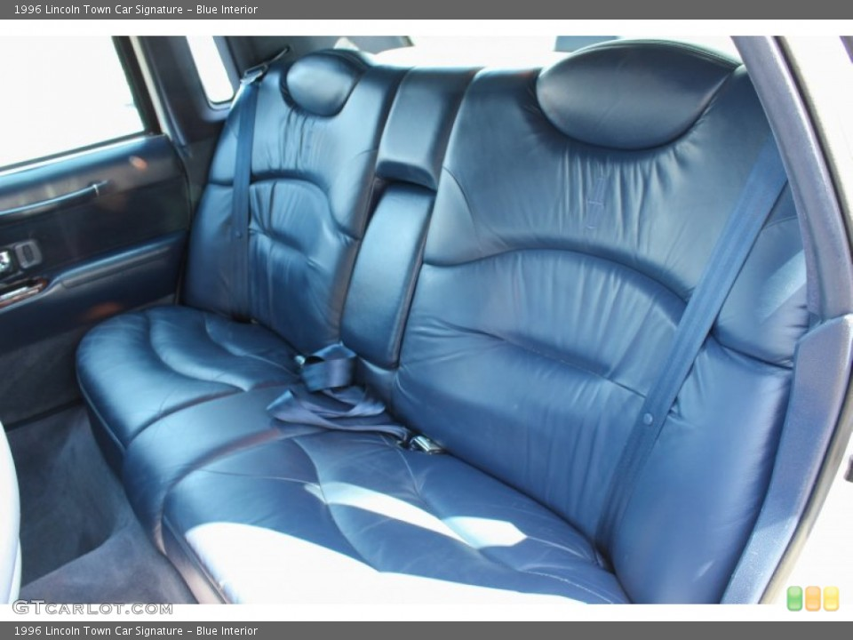 Blue Interior Rear Seat for the 1996 Lincoln Town Car Signature #79498642