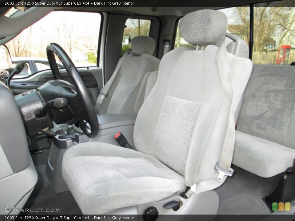 Dark Flint Grey Interior Front Seat for the 2003 Ford F250 Super Duty XLT SuperCab 4x4 #79574230