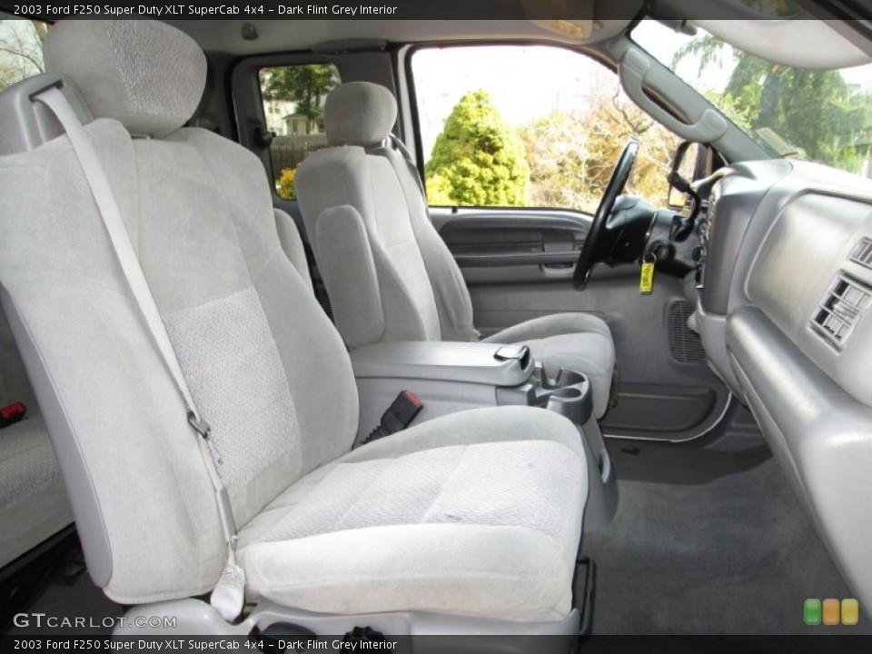 Dark Flint Grey Interior Photo for the 2003 Ford F250 Super Duty XLT SuperCab 4x4 #79574253