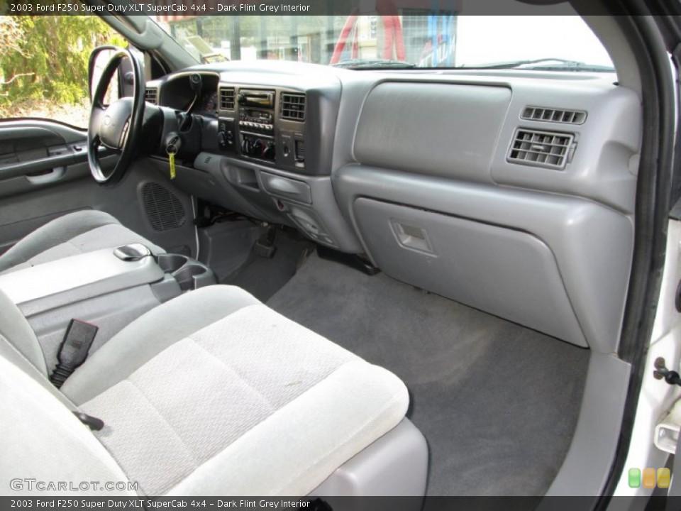 Dark Flint Grey Interior Dashboard for the 2003 Ford F250 Super Duty XLT SuperCab 4x4 #79574293