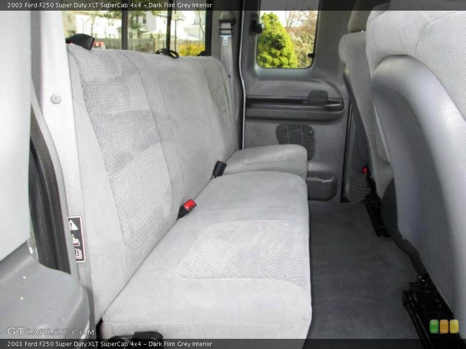 Dark Flint Grey Interior Rear Seat for the 2003 Ford F250 Super Duty XLT SuperCab 4x4 #79574335