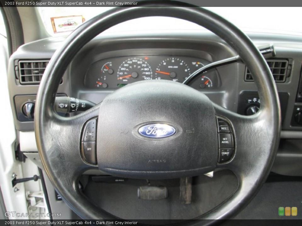 Dark Flint Grey Interior Steering Wheel for the 2003 Ford F250 Super Duty XLT SuperCab 4x4 #79574431
