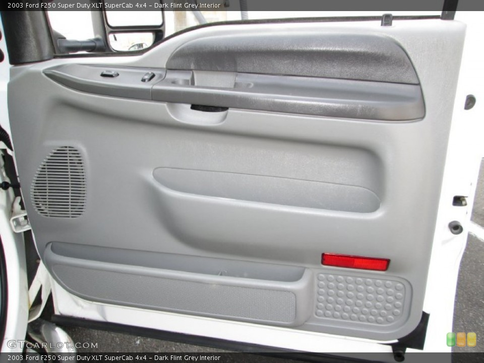 Dark Flint Grey Interior Door Panel for the 2003 Ford F250 Super Duty XLT SuperCab 4x4 #79574503