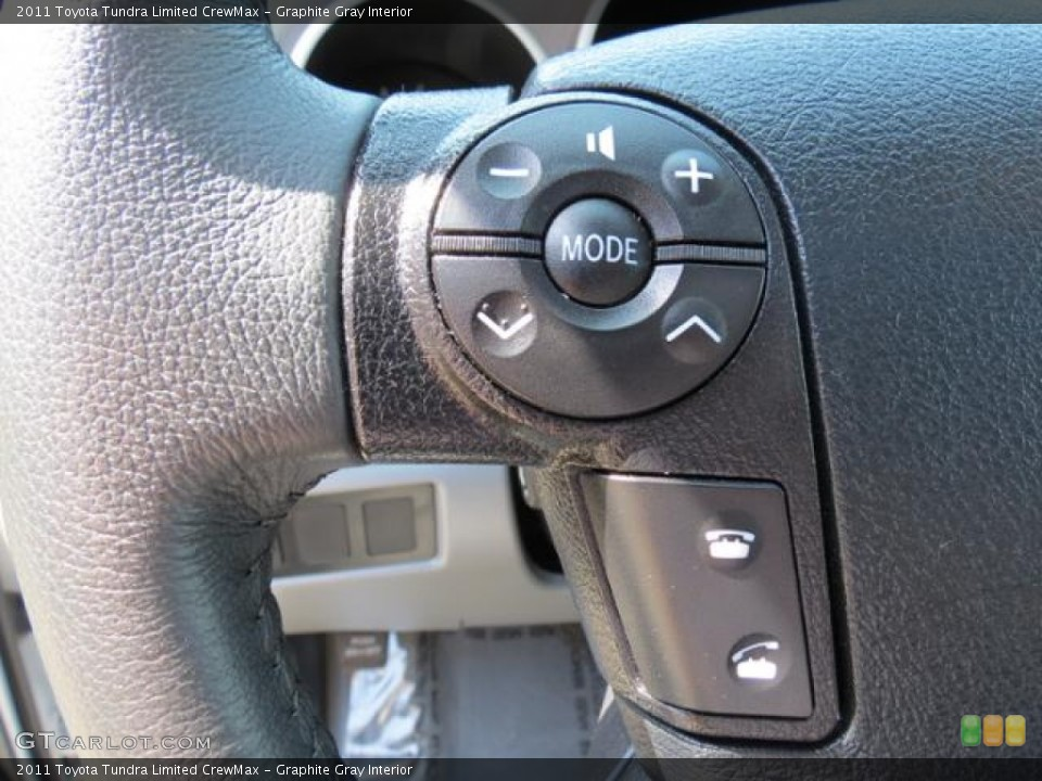 Graphite Gray Interior Controls for the 2011 Toyota Tundra Limited CrewMax #79590769