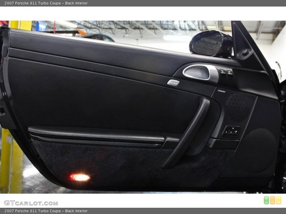 Black Interior Door Panel for the 2007 Porsche 911 Turbo Coupe #79598350