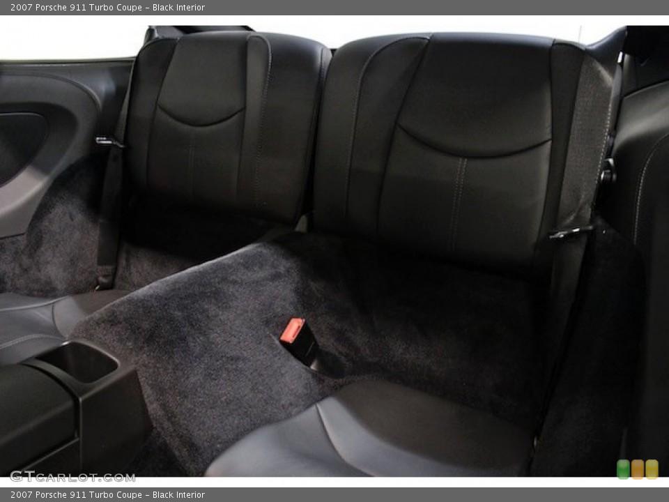 Black Interior Rear Seat for the 2007 Porsche 911 Turbo Coupe #79598506