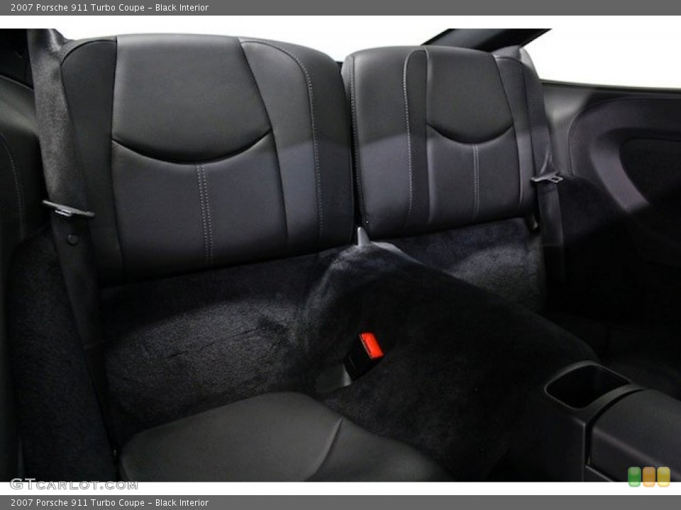 Black Interior Rear Seat for the 2007 Porsche 911 Turbo Coupe #79598519