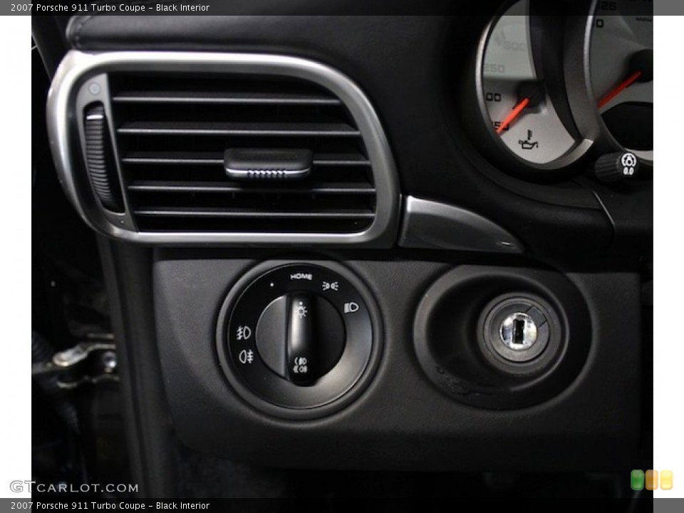 Black Interior Controls for the 2007 Porsche 911 Turbo Coupe #79598561