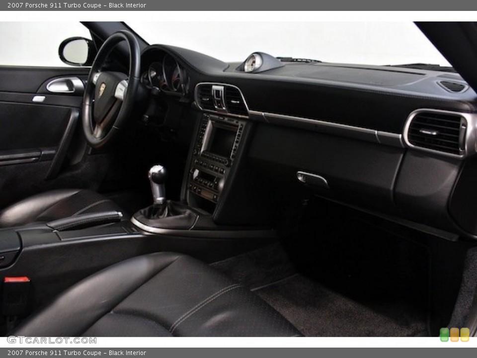 Black Interior Dashboard for the 2007 Porsche 911 Turbo Coupe #79598596