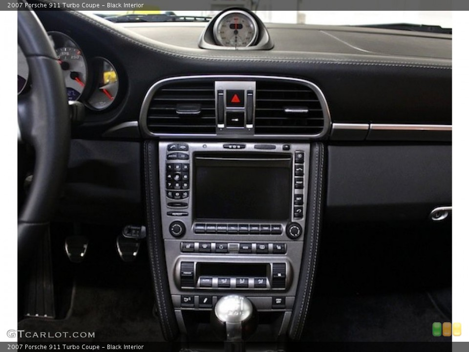 Black Interior Controls for the 2007 Porsche 911 Turbo Coupe #79598662
