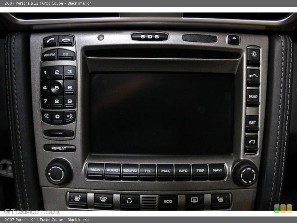Black Interior Controls for the 2007 Porsche 911 Turbo Coupe #79598677