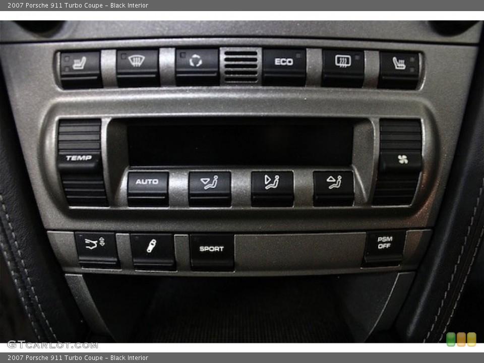 Black Interior Controls for the 2007 Porsche 911 Turbo Coupe #79598693
