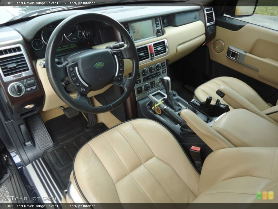 Sand/Jet 2005 Land Rover Range Rover Interiors