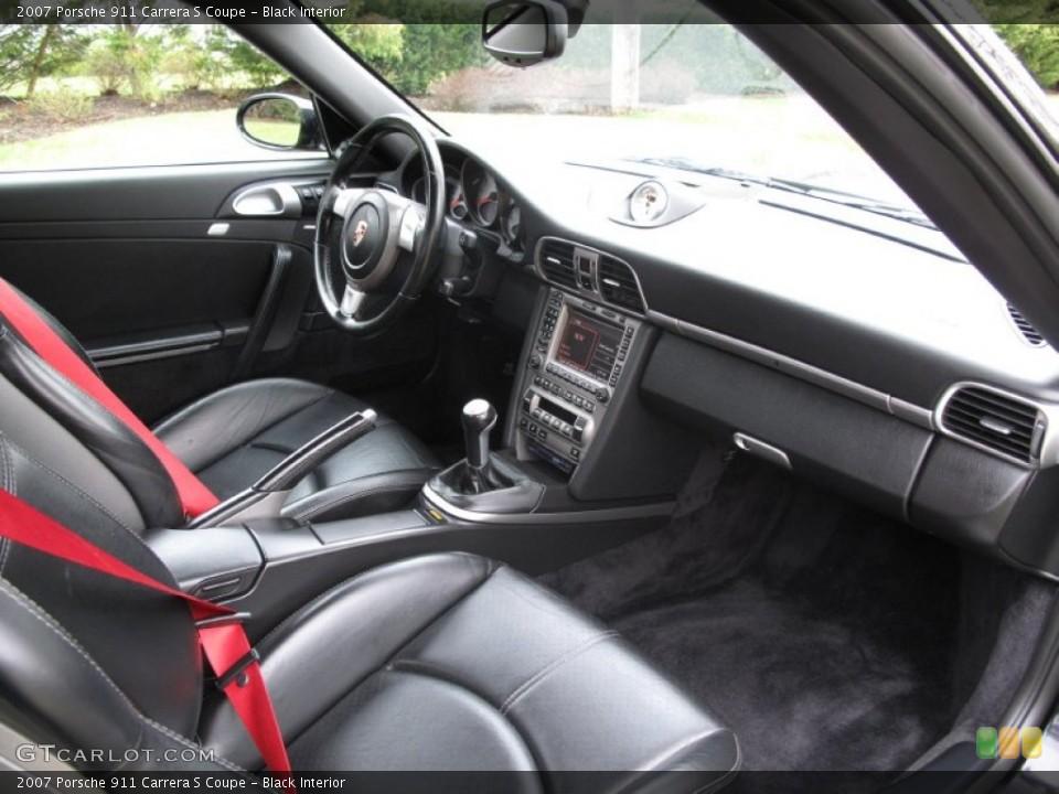 Black Interior Dashboard for the 2007 Porsche 911 Carrera S Coupe #79638884