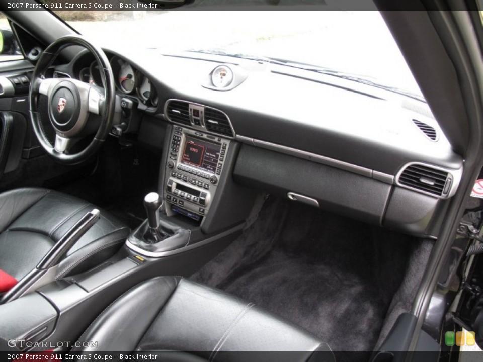 Black Interior Dashboard for the 2007 Porsche 911 Carrera S Coupe #79638952