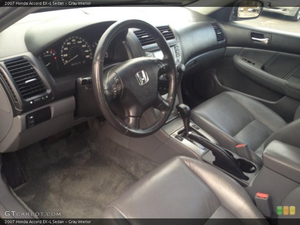 Gray 2007 Honda Accord Interiors
