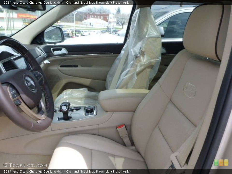 Overland Nepal Jeep Brown Light Frost Interior Photo for the 2014 Jeep Grand Cherokee Overland