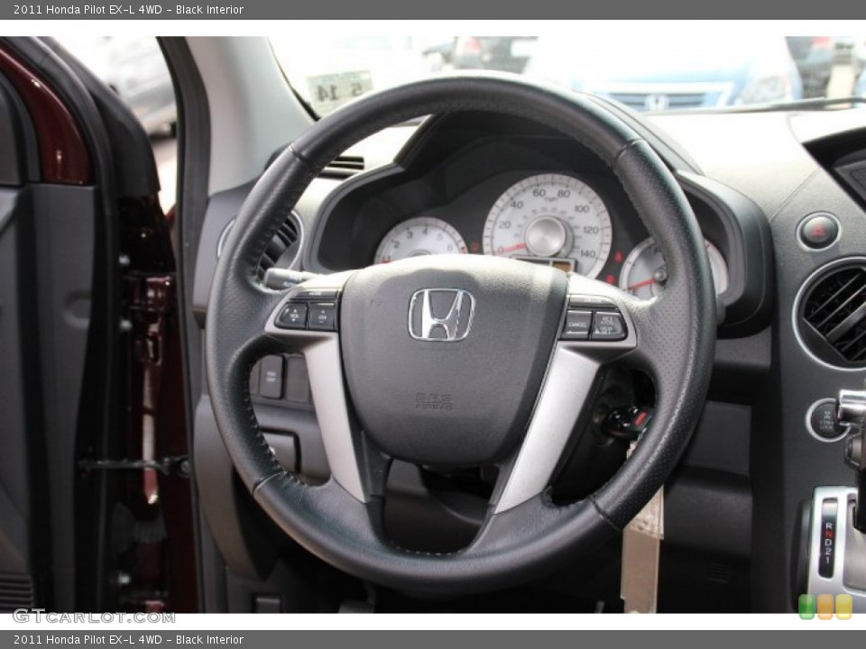 Black Interior Steering Wheel for the 2011 Honda Pilot EX-L 4WD #79741419