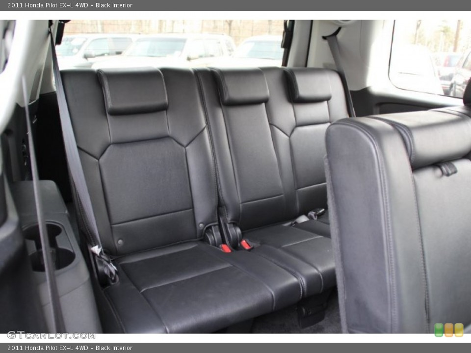 Black Interior Rear Seat for the 2011 Honda Pilot EX-L 4WD #79741475