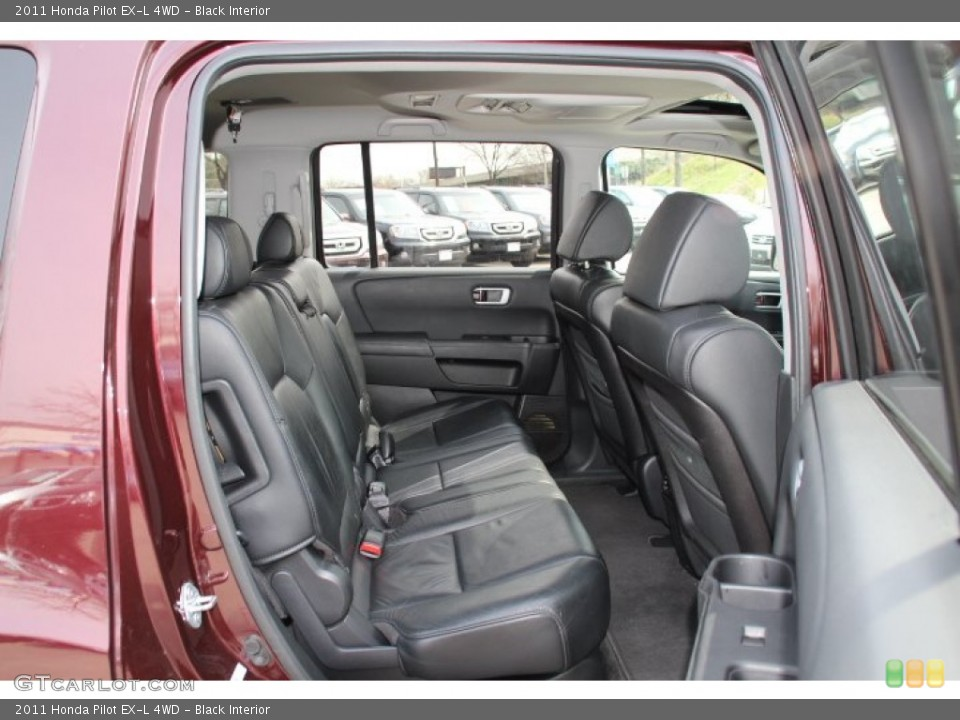 Black Interior Rear Seat for the 2011 Honda Pilot EX-L 4WD #79741486