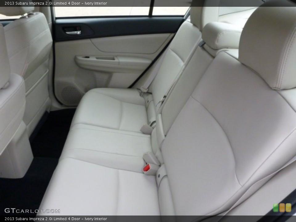 Ivory Interior Rear Seat for the 2013 Subaru Impreza 2.0i Limited 4 Door #79746525