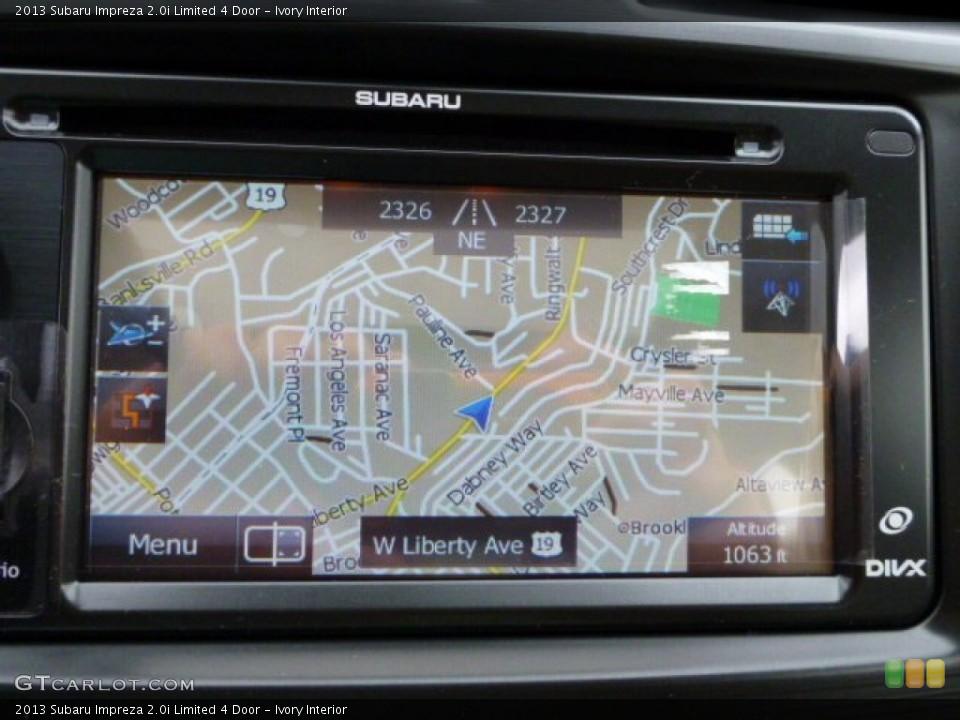 Ivory Interior Navigation for the 2013 Subaru Impreza 2.0i Limited 4 Door #79746645