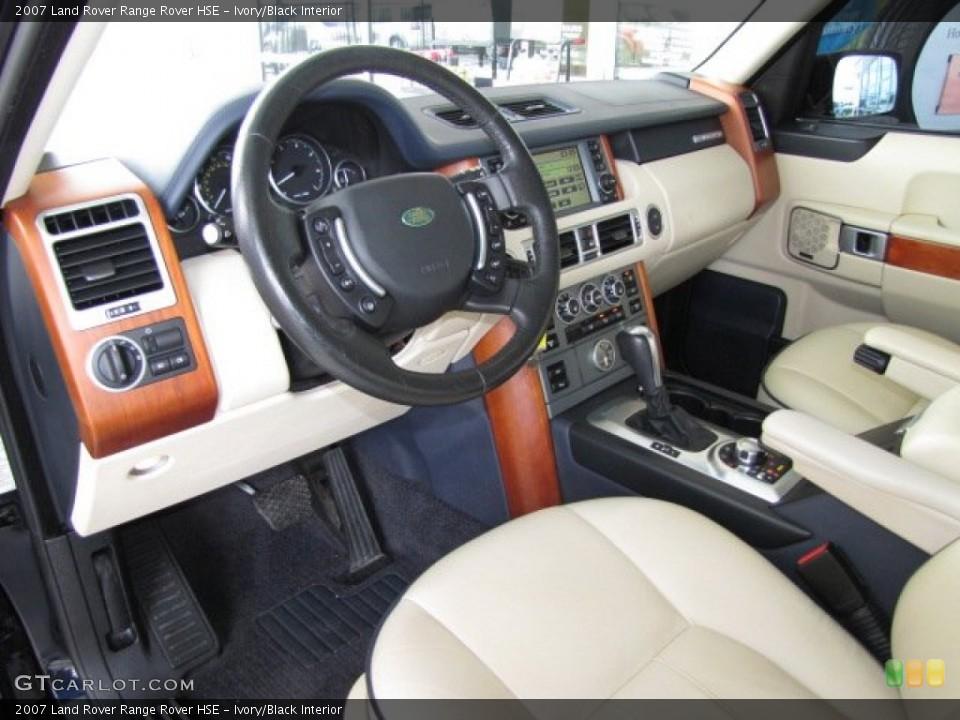 Ivory/Black 2007 Land Rover Range Rover Interiors