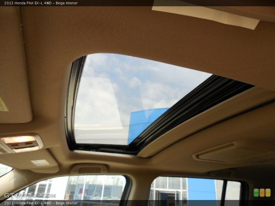 Beige Interior Sunroof for the 2013 Honda Pilot EX-L 4WD #79862260