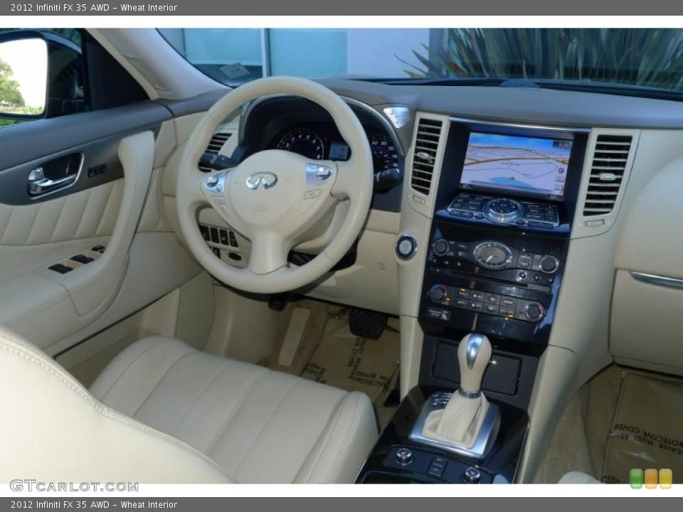 Wheat Interior Dashboard for the 2012 Infiniti FX 35 AWD #80021721